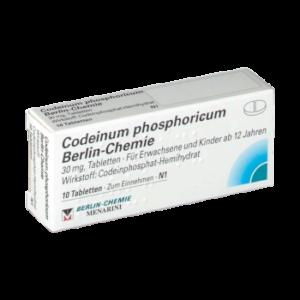 Codeinphosphat Tabletten ohne Rezept bestellen mit 30 Milligramm kein Retard Schmerzmittel billiger kaufen ohne Rezept