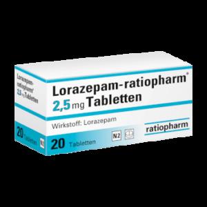 Lorazepam ohne Rezept bestellen 2,5 mg Tabletten 50 Stück kaufen